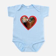 Red Panda Heart Infant Bodysuit