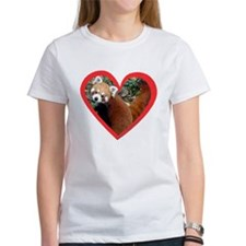 Red Panda Heart Tee