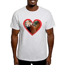 Red Panda Heart T-Shirt