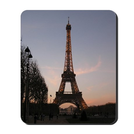 Eiffel Tower Sunset Mousepad | Mouse Pad