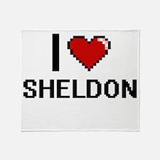 I Love Sheldon Throw Blanket