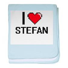 I Love Stefan baby blanket