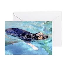 Pool Swim dog card-individual with envelope