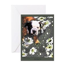 bull dog lover card -individual with envelope