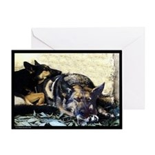 German Shepard dog card-single-w/envelope