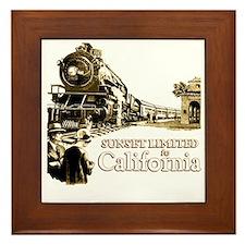 To California... Framed Tile