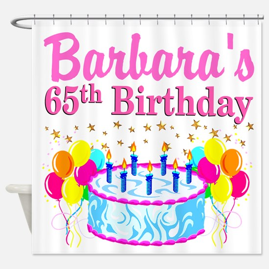 CELEBRATE 65 Shower Curtain