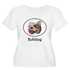 Bulldog Plus Size T-Shirt