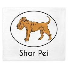 Shar Pei King Duvet