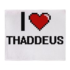 I Love Thaddeus Throw Blanket