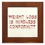 Mindless Conformity Framed Tile
