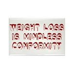 Mindless Conformity Rectangle Magnet