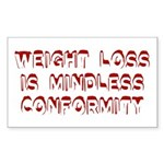 Mindless Conformity Rectangle Sticker
