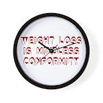 Mindless Conformity Wall Clock