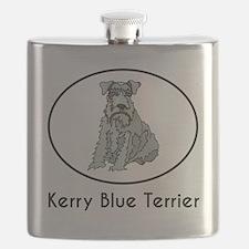 Kerry Blue Terrier Flask