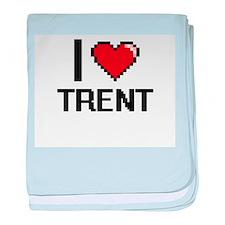 I Love Trent baby blanket