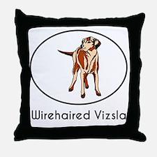Wirehaired Vizsla Throw Pillow