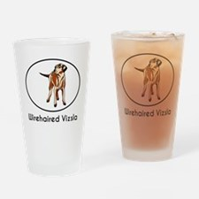 Wirehaired Vizsla Drinking Glass