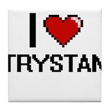 I Love Trystan Tile Coaster