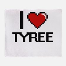 I Love Tyree Throw Blanket