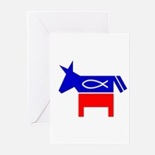 Christian Fish Dem Donkey Greeting Cards (Pk of 20