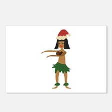 Christmas Hula Girl Postcards (Package of 8)