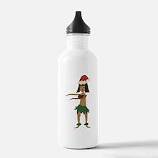 Christmas Hula Girl Water Bottle