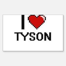 I Love Tyson Decal