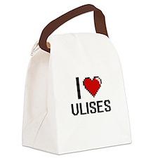 I Love Ulises Canvas Lunch Bag