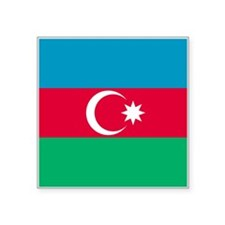 "Azerbaijan Flag Square Sticker 3"" x 3"""