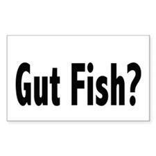 Gut Fish? Rectangle Decal