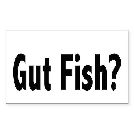 Gut Fish? Rectangle Sticker