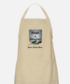 Knight In Shining Armor Rose Personalize Apron
