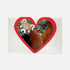 Red Panda Heart Rectangle Magnet