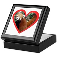 Red Panda Heart Keepsake Box