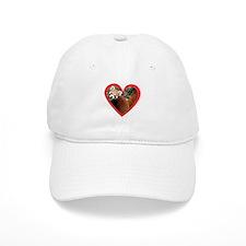 Red Panda Heart Baseball Cap