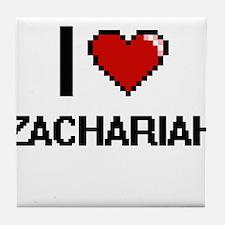 I Love Zachariah Tile Coaster