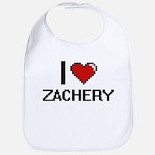 I Love Zachery Bib