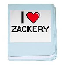 I Love Zackery baby blanket