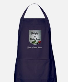 Knight In Shining Armor Rose Apron (dark)