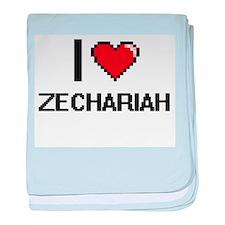 I Love Zechariah baby blanket