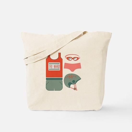 Tri Hard Tote Bag