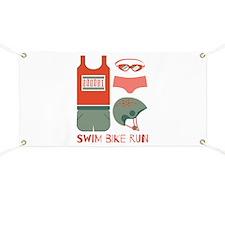 Swim Bike Run Banner