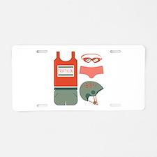 Triathlon Equipment Aluminum License Plate