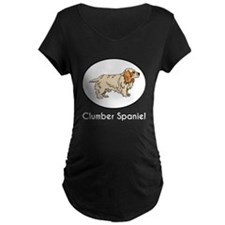 Clumber Spaniel Maternity T-Shirt