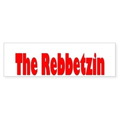 The Rebbetzin Bumper Bumper Sticker