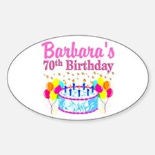 CELEBRATE 70 Sticker (Oval)