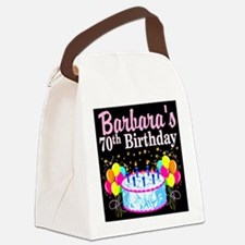 70TH PARTY GIRL Canvas Lunch Bag