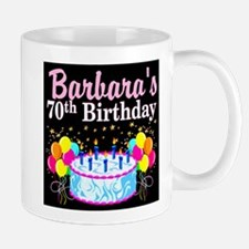 70TH PARTY GIRL Small Mugs