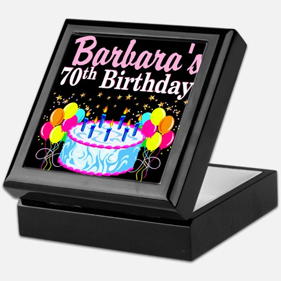 70TH PARTY GIRL Keepsake Box